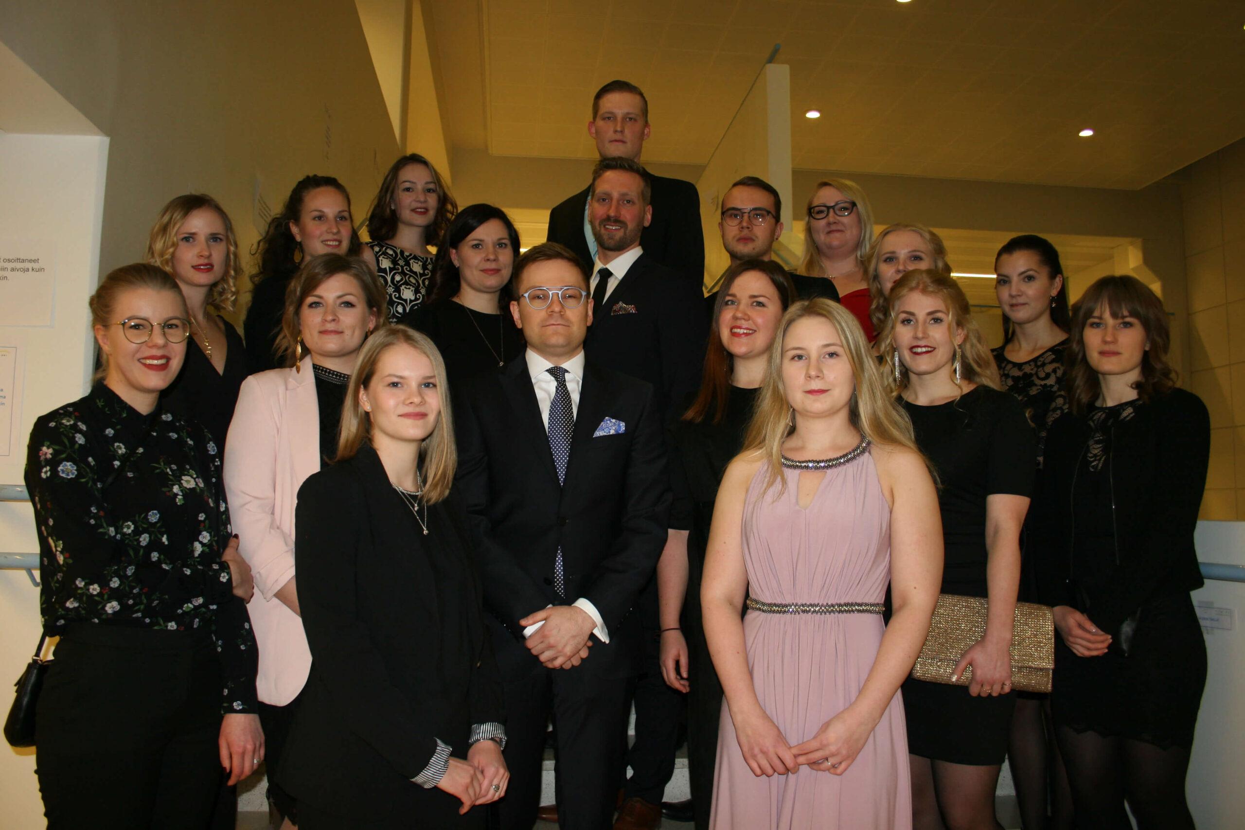 Oulun ammattikorkeakoulusta valmistuneita vuonna 2018 päättyneellä lukukaudella